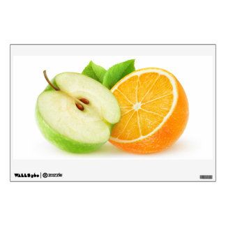 Apple and orange wall decal