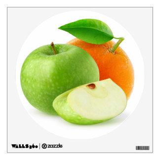 Apple and orange wall sticker