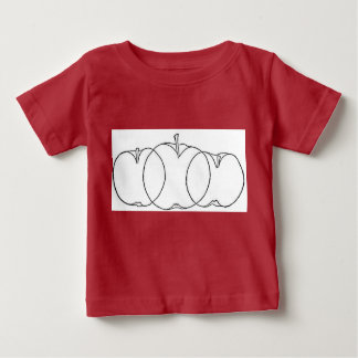 Apple and pear fruit culturist line drawings, 1903 infant t-shirt