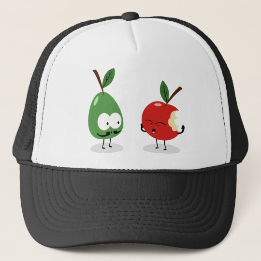 Apple and Pear Trucker Hat