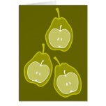 Apple and Pears doodle art Card