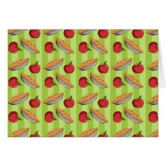 Apple and pie pattern card