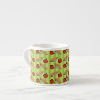Apple and  pie pattern espresso cup