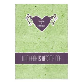Apple and Plum Wedding Set - RSVP 3.5x5 Paper Invitation Card