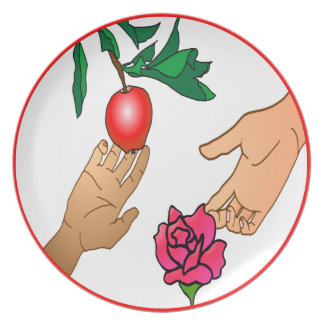 Apple and Rose Plate