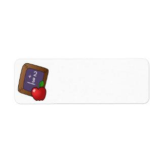 apple_and_slateboard  black board, chalk, chalkboa custom return address labels