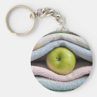 Apple and towels keychain