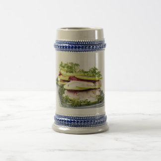 Apple and trout appetizer beer stein
