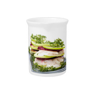 Apple and trout appetizer drink pitcher