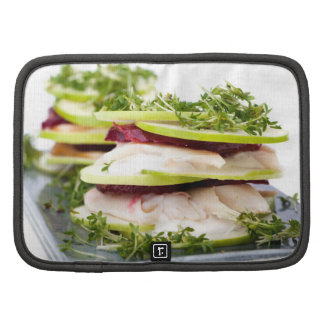 Apple and trout appetizer organizer