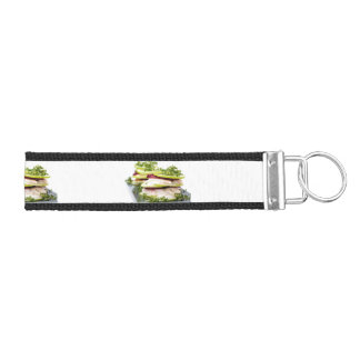 Apple and trout appetizer wrist keychain