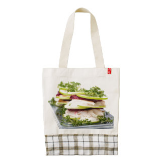 Apple and trout appetizer zazzle HEART tote bag
