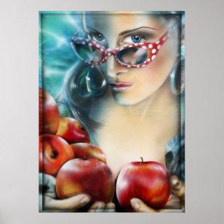 Apple apfel apples äpfel imprimes print poster kun