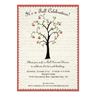 "Apple / Apple Fall Celebration Invitation 5"" X 7"" Invitation Card"
