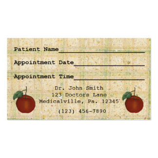 Apple Appointment Business Card