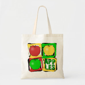 Apple Art Tote Bag