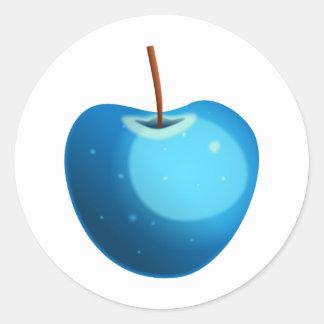 Apple azul pegatina