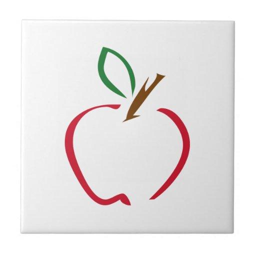 Apple Azulejo Cuadrado Pequeño