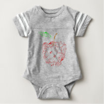 apple baby bodysuit