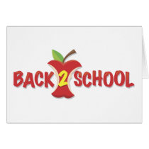 Apple Back To School Banner Card