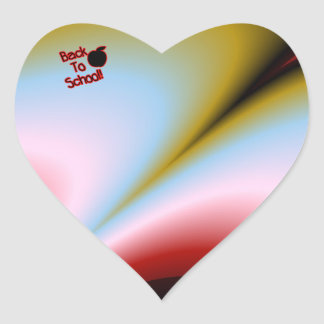 Apple & Back to School - Heart Sticker