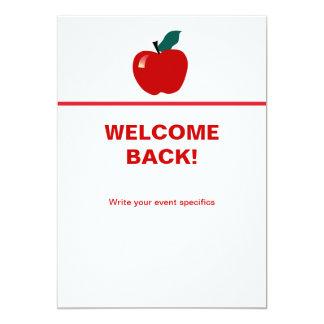 Apple, Back to School 5x7 Paper Invitation Card