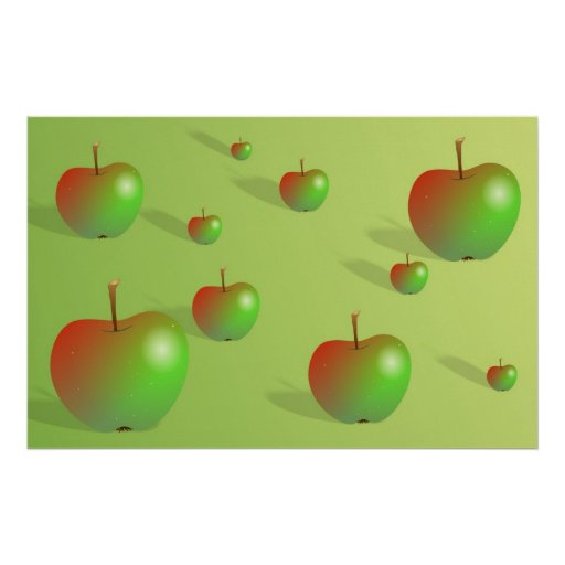Apple Background Poster