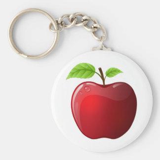apple basic round button keychain