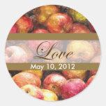 Apple Basket 1 Love Wedding Classic Round Sticker