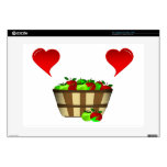 """Apple Basket Love Decal For 15"""" Laptop"""
