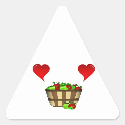 Apple Basket Love Triangle Sticker