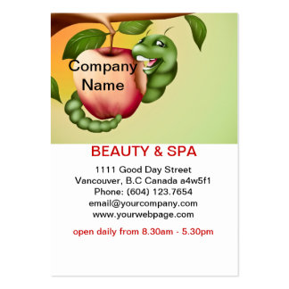 Apple  Beauty Spa Salon Business Card Pack Of Chubby Business Cards