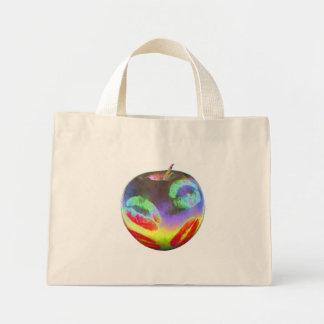 Apple besa color bolsa tela pequeña