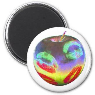 Apple besa color imán redondo 5 cm