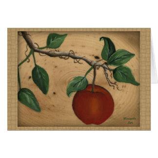 Apple Birthday Card (Large Print)