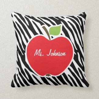 Apple Black White Zebra Stripes Pillow