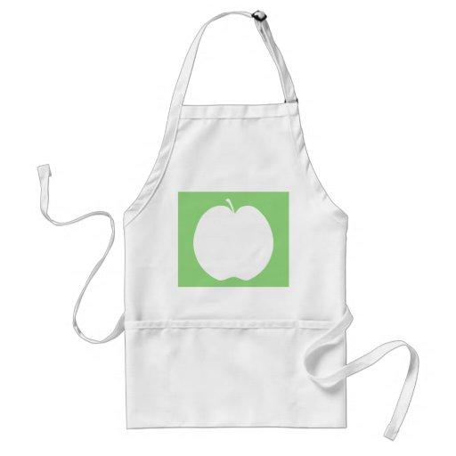Apple blanco delantal