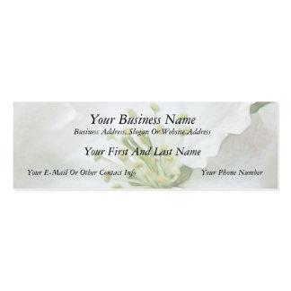 Apple blanco florece primer tarjetas de visita