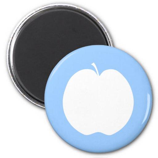 Apple blanco iman para frigorífico