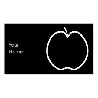Apple blanco resume plantillas de tarjetas de visita
