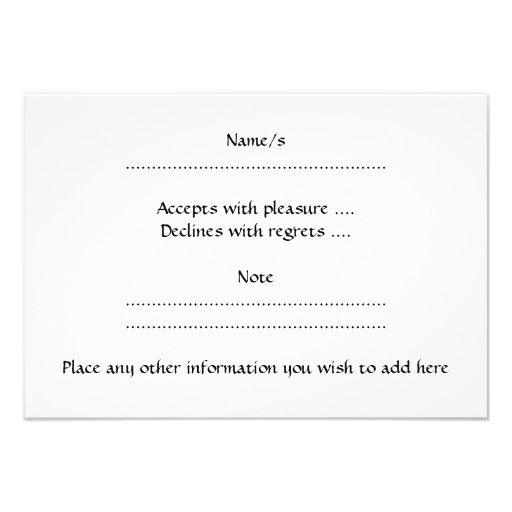 Apple blanco y negro invitacion personalizada