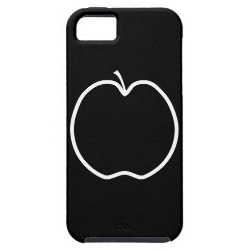 Apple blanco y negro iPhone 5 carcasa