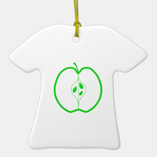 Apple blanco y verde medio ornatos