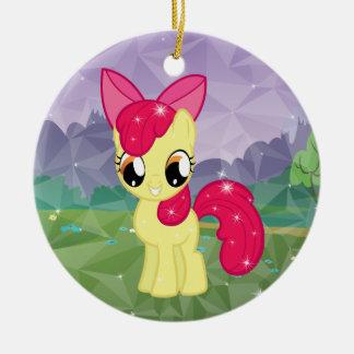 Apple Bloom Ceramic Ornament