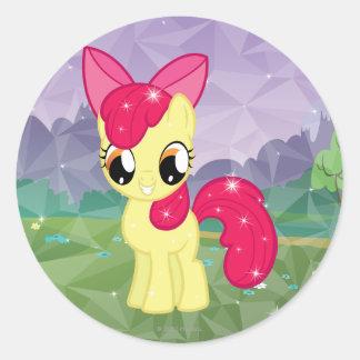 Apple Bloom Classic Round Sticker