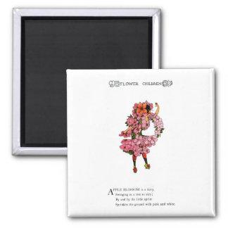 Apple Blossom 2 Inch Square Magnet