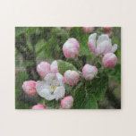 apple blossom and green leaves puzzles