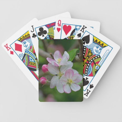 Apple Blossom Bicycle Playing Cards