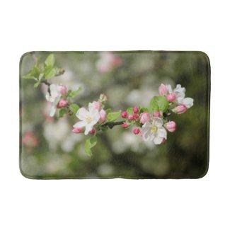 Apple Blossom Branch Bath Mat