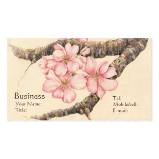 Apple Blossom Branch Business Card Templates